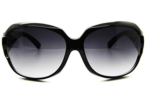 Black Designer Inspired Fashion Sunglasses Christian Paris Logo Women Oversized ()