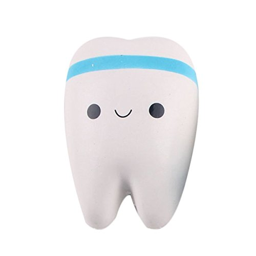 YSBER Tooth Squishy Slow Rising Toy Hand Toys Cute Straps Phone Charms-Blue (Blue Charm Strap)