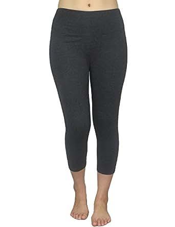 Marika Womens Professional Sports Skinny Leggings / Yoga Capri Pants S Dark Grey