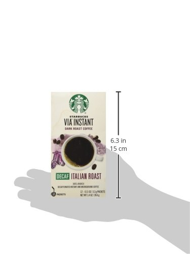 Starbucks VIA Decaf Italian Coffee 12 packets, 0.11 ounce