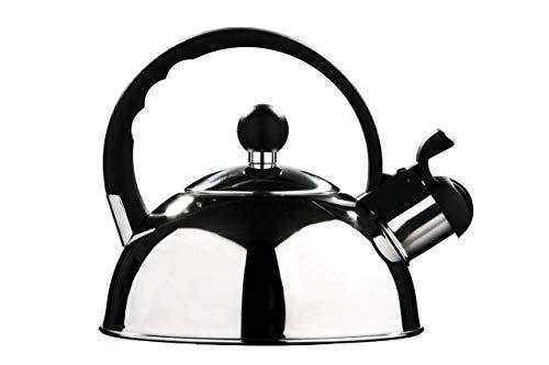 Premier Housewares - Tetera hervidor con Silbato (Acero Inoxidable, 1 0 L) Acabado Espejo