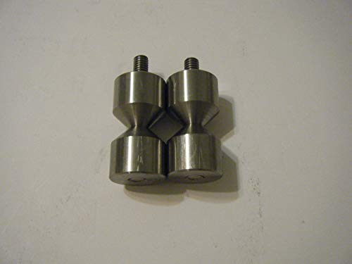 Davis 1 1/4'' Stainless Two Hole pin with 3/8''-16 Thread by Davis