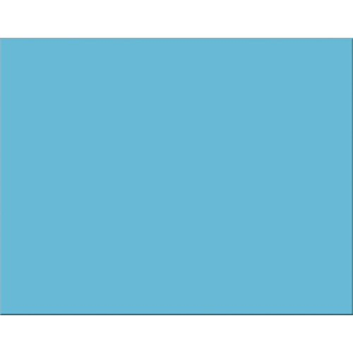 Pacon PAC54851 6-Ply Railroad Board, Light Blue, 22'' x 28'', 25 Sheets