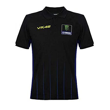 Valentino Rossi Yamaha Dual-Black Polo, Hombre: Amazon.es ...