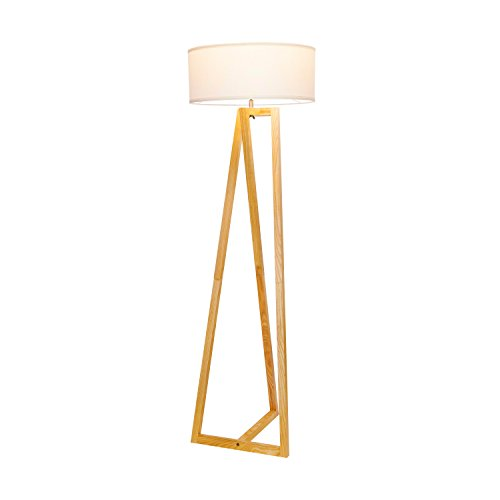 Brightech''Z'' Wood Tripod LED Floor Lamp - Mid Century Modern Light for Living Rooms & Family Rooms - Tall Standing Lighting for Contemporary Bedrooms & Offices by Brightech (Image #4)