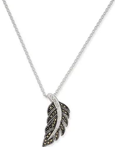 - Marcasite & Crystal Feather 18