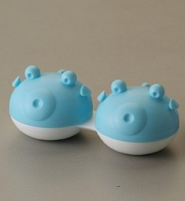 Q-CASE - Fish - Contact lens case - (3 pack) (BLUE)