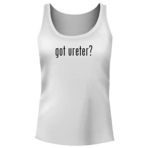 One Legging it Around got Ureter? - Women's Funny Soft Tank Top, White, Large