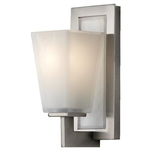 Feiss VS16601-BS 1-Bulb Vanity Light Fixture, Brushed Steel Finish - Bs Brushed Steel 1 Light