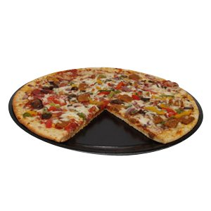 Solut 74557 SBS Paper Take-and-Bake Pizza Tray, 17'' Diameter, Black, for 16'' Pizza (Case of 150) by SOLUT!