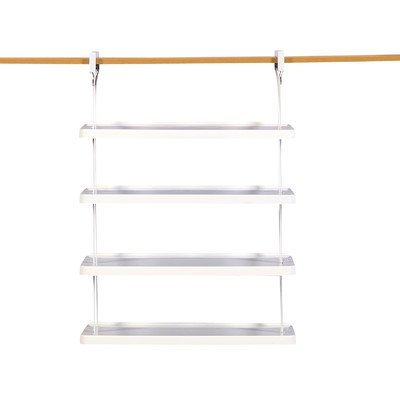 Rubbermaid 1806115 Retrofit Closet Helper 4 Shelf Unit, White (Shoe Organizer Rubbermaid)