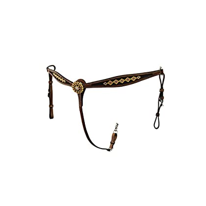 Image of Breastplates Colorado Saddlery The 7-81dk Gold Rush Beaded Breast Collar