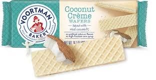 Cookies Wafer Coconut - Voortman Coconut Creme Wafers, 14.1 oz (1)