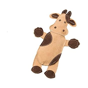 Ethical Pets Dura-Fused Leather Assorted Barnyard Animals Dog Toys, 11
