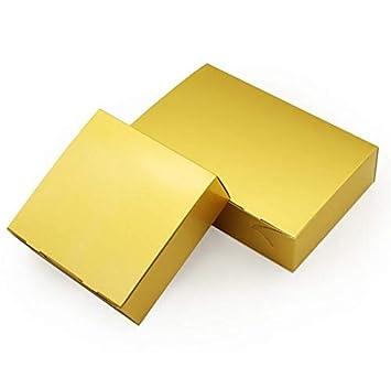 Amazon.com: XLPD - Caja de regalo de papel dorado para ...