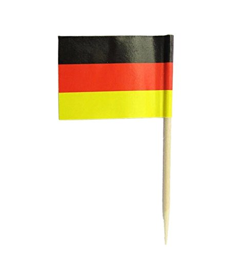 Germany   Flag Toothpicks   National Flags Food Picks for Bento Box Lunch Box(140 - Picks German Flag