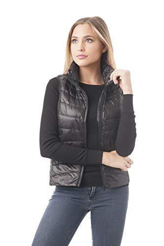 (Women's Sleeveless Goose Down Jacket Vest (Small, Black))