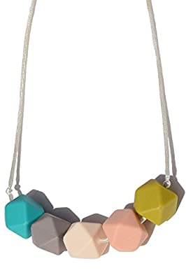 Silicone Teething Necklace For Mom To Wear - BPA Free, Dishwasher Safe, Stylish Teether, Mom Approved Nursing Necklace, Tranquility by Eternal Love Teething Jewelry