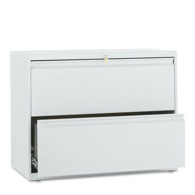 HON 882LQ 800 Series 36-Inch by 19-1/4-Inch 2-Drawer Lateral File, Light Gray