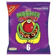 Walkers Monster Munch Pickled Onion 6Pk x 4