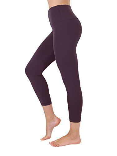 9bdca72c7e046 Yogalicious High Waist Ultra Soft Lightweight Capris - High Rise Yoga Pants  - Fig Sugar -