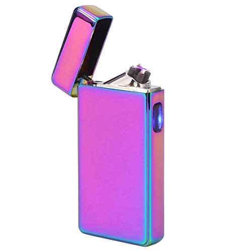 Kivors Electronic Arc Lighter USB Rechargeable Windproof Electrical Plasma Pulse X Beam Dual Arc Lighter Butane Free (Colorful) ()