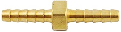 MettleAir ID Hose Barb Mender/Splicer/Joiner/Union Fitting Brass Tubing Hose Adapter/Coupler