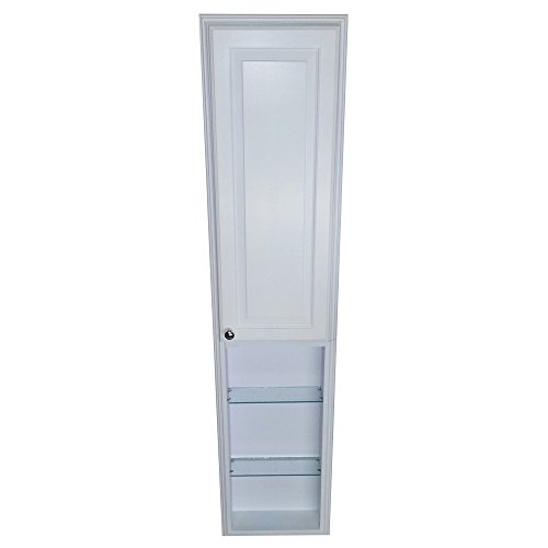 WG Wood Products Recessed Tyler Pantry Storage Cabinet with 36'' Shelf & 3.5'' Deep, 66'', White Enamel by WG WOOD GROUP