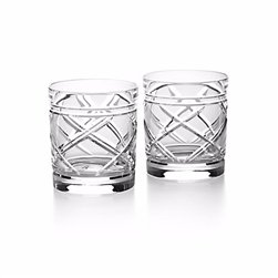 (Ralph Lauren Home Brogan Classic Double Old Fashioned DOF Crystal Glasses in Gift Box)