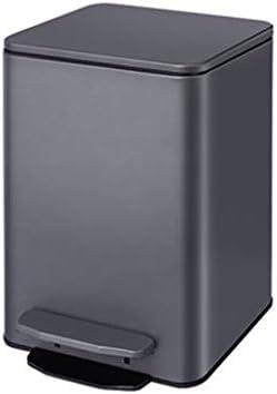 滑らかな表面 オフィスレセプションルームカフェレストランのための蓋付き多機能ごみ箱、取り外し可能なインナーごみ箱バスルームのゴミ箱 リサイクル可能なデザイン (Color : E, Size : 15L)