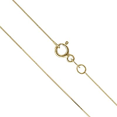 14K Solid Yellow Gold Box Chain Necklace from Honolulu Jewelry Company