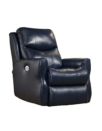 Southern Motion Fame Power Headrest Wall Hugger Recliner with Memory Plus (Surreal Regatta)
