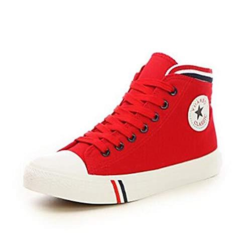 Blu TTSHOES CN35 5 Per Donna 5 US5 Rosso Primavera Di Red Corda Chiusa Piatto Punta Nero Comoda Scarpe UK3 Sneakers EU36 Estate 66Fqw1r
