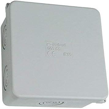 Caja de Conexiones 80x80 6+2 IP65 Adorno Caja de Empalme Conexiones Caja 003.CS M-L 0943: Amazon.es: Bricolaje y herramientas