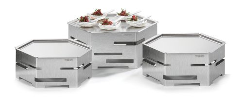 Rosseto SK021 9 Piece Honeycomb Stainless Steel Buffet Riser Cooler Kit with Ice Bath by Rosseto