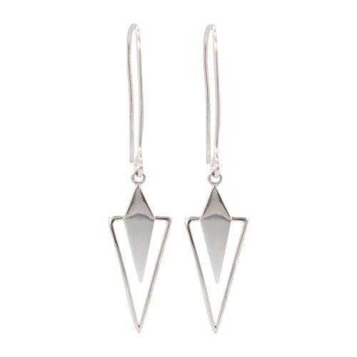 Fuller House - Sterling Silver Geometric Dangle Earrings, #6466-ss