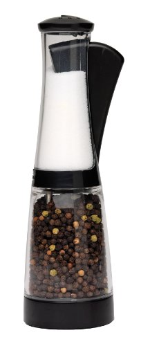 Plastic Salt And Pepper Mill (Chef'n Bistro Combo Grinder (Black/Clear))