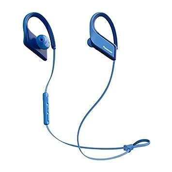 Panasonic RP-BTS35E-A - Auriculares Deportivos inalámbricos (Bluetooth, Clips Deportivos 3D-Flex, Resistencia al Agua IPX5, Sonido dinámico, 6 Horas de ...