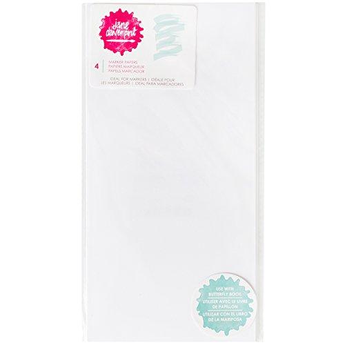 Jane Davenport Mixed Media Butterfly Effect System - Marker Paper - 4 Marker-Paper Sheets - Scrapbooks, Art Crafts, School Projects
