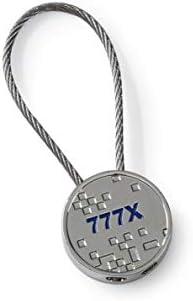 (ボーイング) BOEING 【Boeing 777X Pixel Graphic Keychain】 ボーイング 777X キーホルダー (キーチェーン キーリング )