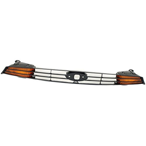 Evan-Fischer EVA17772022942 Grille for Ford Focus 00-04 Paint To Match W/Amber Turn Signal (Ford Focus Grille Replacement)