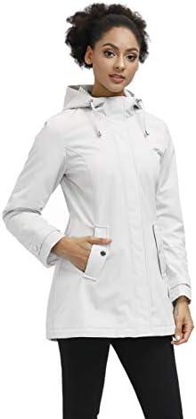 SLOW DOWN Women's Warm Hooded Winter Parka Jackets Midlength Water-resistant Coat