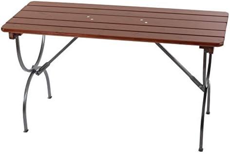Mesa de jardín plegable, madera, 150 x 60 cm x 81 MDJ04032: Amazon ...