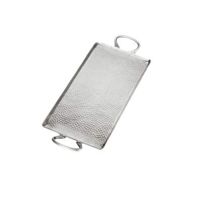 American Metalcraft G21 American Metalcraft G21 Hammered Stainless Steel Griddle, Small Rectangle, 1-1/2'' Height, 9'' Width, 21-3/4'' Length, Stainless Steel,