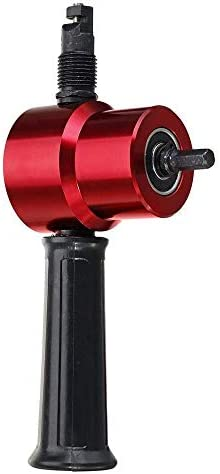 YASE-king YT-160A Red Double Head Sheet Metal Nibbler Cutter Drill Attachment Metal Sheet Cutter Fit for Electric Drill