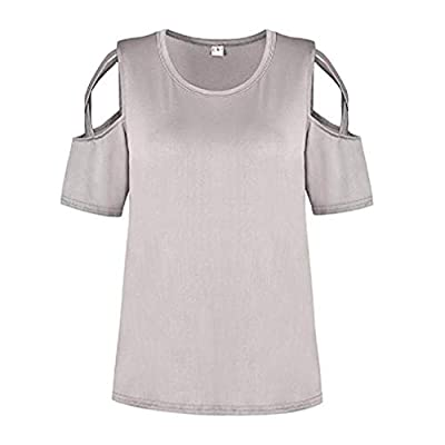 Noopvan Women Tops with Zipper, Women Solid Casual Chiffon Tops T-Shirt Loose Top Long Sleeve Blouse
