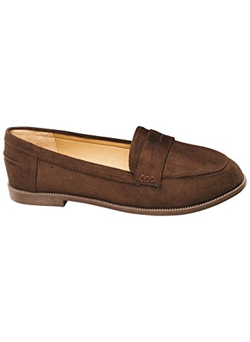 Classic Penny Loafer Sizes 6M to 11W, Color Brown, Size 7 (Medium), Brown, Size 7 (Medium)