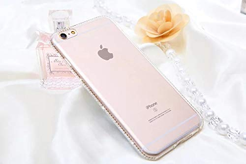 1 piece LOVECOM For iphone X Case Diamond Crystal Frame Soft Transparent Silicon For iphone 5 5S SE 6 6S 7 8 Plus Phone Case Cover Shell