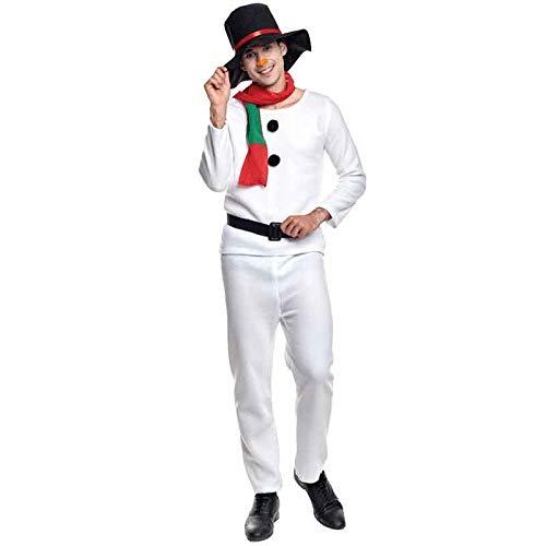 Disfraz Muñeco de Nieve adulto para Navidad M: Amazon.es: Juguetes ...