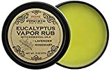Svasthya Eucalyptus Vapor Rub with Lavender and Rosemary Essential Oil, All Natural Relief for Cold, Cough, Congestion, and Allergy Symptoms